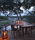 Rekero-Camp-Dining-deck-river-view-evening