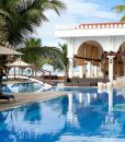 lantana-galu-beach-Pool, bridge and restaurant