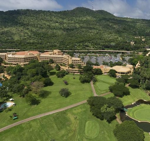 sun-city-hotel-Aerial view of Sun City Hotel The Cascades and Gary Player Golf Course